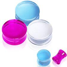 Piercing plug acrylique transparent