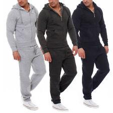 Uomo Tuta da jogging MAGLIA + Pantaloni sport Set Felpa con cappuccio giacca