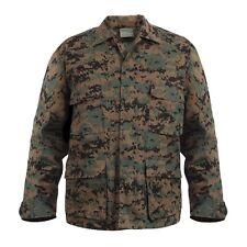 DIGITAL Woodland Camo BDU Style SHIRT Military US Marine Corps USMC Jacket