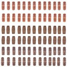 10pcs Wooden Hair Braid Dreadlock Beads Tube Ring Hair Extension Clips