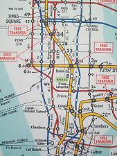 1948 NYC New York Subway Elevated Map Hagstrom BMT Brooklyn Ebbets Field NICE