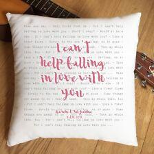 Elvis non può aiutare cadere in amore con te cuscino personalizzata-regalo di nozze