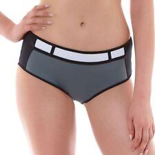 Freya Swimwear Bondi High Waist Bikini Brief/Bottoms Black/Grey 3967
