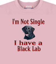 Dog T Shirt - I'm Not Single I Have A Black Lab - Adopt Animal Cat  Men Women #2
