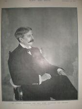 Printed photo George Wyndham new Chief Secretary for Ireland 1900