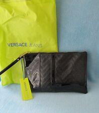 VERSACE JEANS Tasche Clutch Handgelenktasche schwarz / beige 32 cm NEU E1VHBBWB