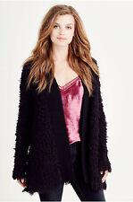 True Religion Women's Long Sleeve Cardigan in Black