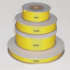 Amarillo doble cara cinta de raso 3 mm 10 mm 16 mm 25 mm 38 mm 50 Mm Ancho