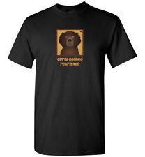 Curly Coated Retriever Cartoon T-Shirt - Men Women Youth Tank, Short Long Sleeve