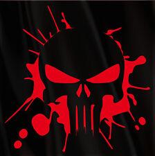 Punisher Splatter Decal Large Outline Skull Sticker Choose Color & Size 12 Inch+
