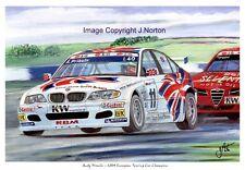A3 ART PRINT - ANDY PRIAULX - BMW - ETCC CHAMPON 2004