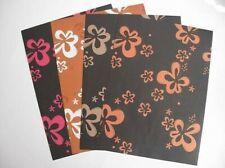 5 feuilles 1-SIDED A4 couleur fleur Support Papier 120 g/m² SCRAPBOOKING &