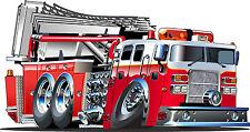 Adesivi bambino Camion pompiere ref 3552 Dimensioni da 10cm a 130cm di larghezza