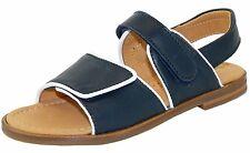 Prag d'oro f24-5409 150 sandali aperte blu bianco pelle velcro 31-36 NUOVO