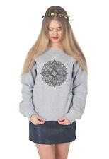 Mandala Boho Sweater Top Jumper Sweatshirt Fashion Summer Festival Bohemian
