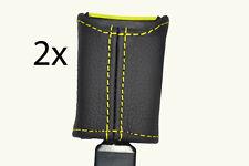 Amarillo Stitch encaja Citroen Saxo 96-04 Asiento Delantero cinturón tallo cubiertas de cuero