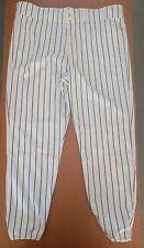 Majestic Pinstrips Baseball Pants White with Black Stripes