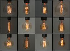Vintage Edison Luz Lámpara Bombillas de filamento industrial | E27 es Tornillo & B22 Bayoneta