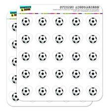 Soccer Ball Football Heart Shaped Planner Calendar Scrapbook Craft Stickers