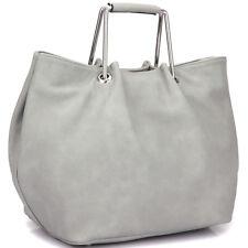 New Women Handbag Faux Leather Satchel Tote Bags Square Handle Medium Purse