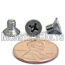 M4 x 6mm Stainless Steel Phillips Flat Head Machine Screws, Countersunk DIN 965