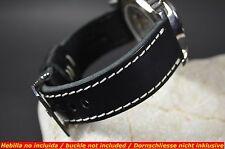 CORREA RELOJ 26 24 22 20MM CUERO VACUNO FOR PAM, ETC MA STRAP MALAGA BLACK II