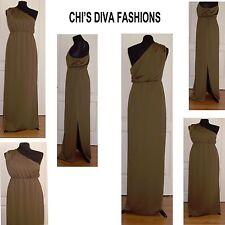 Asos une épaule drapé robe longue tailles 10, 12, 14, 16, 18 (voir détails pls.)