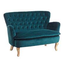 divanetto poltrona imbottito tessuto velluto verde design vintage  divani