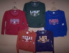 Girl's XS S M L XL NCAA Football Crew Sweatshirt LSU AL FL UCF TX ~ You Pick