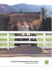 John Deere Compact Tractor Implements Sales Brochure September 2006