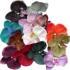 GRANDE 13 cm Orchidea Fiore Capelli Clip Corsage. autunno vintage Matt colori matrimonio