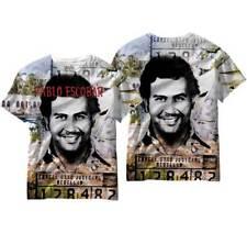 Narcos Drug Lord Pablo Escobar Mug Shot Adult Men's T Shirt