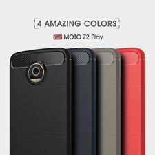 Housse etui coque silicone gel carbone pour Motorola Moto Z2 Play + film ecran
