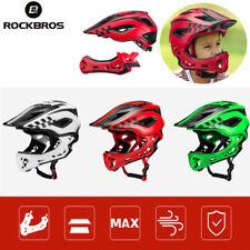 ROCKBROS Full Face BMX MTB Mountain Bike Helmet 48cm-58cm For Kids Boys 2 in 1