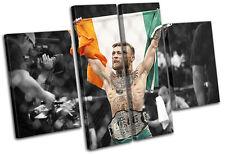 Conor McGregor UFC MMA Irish Flag Sports MULTI TOILE murale ART Photo Print