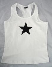 Black Star Girl-top, blanco