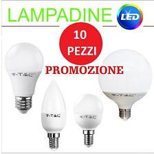 10 LAMPADINE LED LAMPADA sfera,candela,goccia E14,E27 4W,6W,10W,15W,17W V-TAC