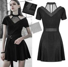 Robe évasé gothique punk lolita glam rock collier résille ceinture mode PunkRave