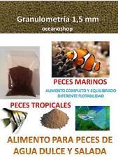 COMIDA granulo 1,5mm PECES TROPICALES Y ACUARIO MARINO alimento tropical salada