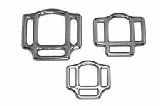 2x Halfterringe 3-fach Edelstahl Halfterring dreifach Ringe Ring 16 19 25 mm