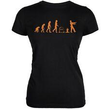 Halloween Zombie Evolution Black Juniors Soft T-Shirt