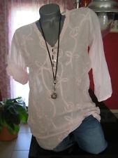 RESTART TUNIKA BLUSE Shirt Damen Sommer 38 40 42 44 46 Ornament Stickerei NEU