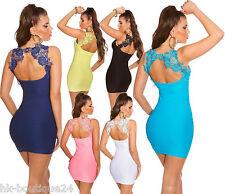 KOUCLA Fine Knit Mini Dress/Evening Dress Cut Out Back Lace Party