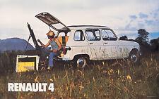 Renault 4 Blanco Coche Clásico Cartel impresiones Foto A1