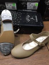 Tap Shoe, Buckle & strap design, w/Teletone Taps, Capezio 3686,Tan or black, NIB