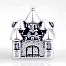 New Silver Plated Castle Princess Disney Charm Fit European Brand bracelet UK
