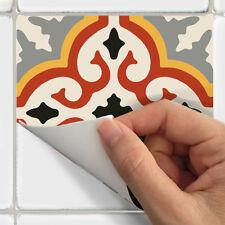 Tile Stickers for Kitchen Backsplash Floor Bath Removable Wate: Marrakech Orange