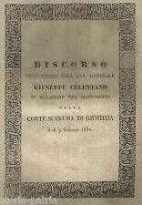 NAPOLI_GIURIDICA_CELENTANO_DISCORSO INAUGURALE_BORBONI_ANTICA RARA EDIZIONE_'800