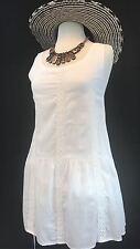 Women's Dress White Casual 100% Cotton Masana Size Small Medium