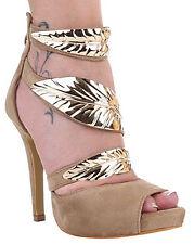 Chaussure haute femme tipo daim en détail or élégant vérifié talon ceinture
